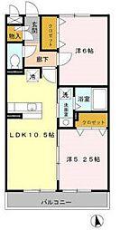 愛知県名古屋市千種区京命2丁目の賃貸アパートの間取り