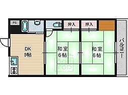 橋本マンション[2階]の間取り