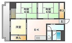 平尾ファミリア[3階]の間取り