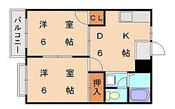 メゾン西尾[1階]の間取り