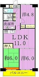 ローズハイツ野田愛宕[B610号室]の間取り