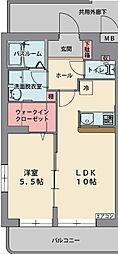 静岡県駿東郡長泉町納米里の賃貸マンションの間取り
