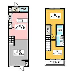 ブロードII[2階]の間取り