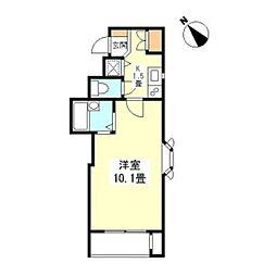 東京メトロ有楽町線 新富町駅 徒歩4分の賃貸マンション 5階1Kの間取り