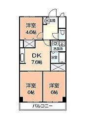 大谷マンション[3階]の間取り