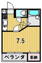 ATIROM18[107号室]の間取り