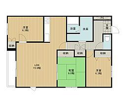 キャロルハウス3[4階]の間取り