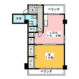 第3浮羽ビル[2階]の間取り