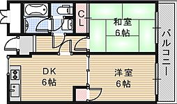 サザンクロス静[1階]の間取り