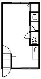 緑町ハイツ 2階ワンルームの間取り