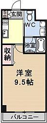 R-2コート(アールツーコート)[202号室号室]の間取り