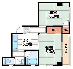 第一川原マンション[2階]の間取り
