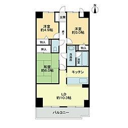 スカール喜多川A棟[7階]の間取り