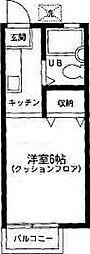東京都足立区東伊興3丁目の賃貸アパートの間取り