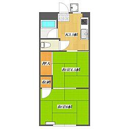 Sunny corporate house 1 Buildi[102号室]の間取り