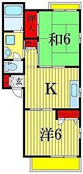 東京都葛飾区お花茶屋3丁目の賃貸アパートの間取り