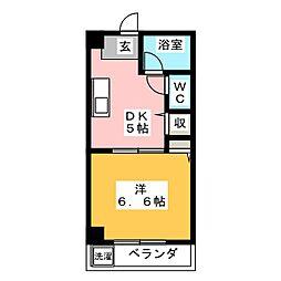 愛知県名古屋市南区豊田4丁目の賃貸マンションの間取り