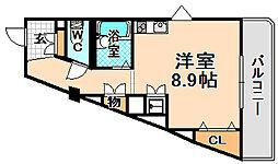 兵庫県伊丹市稲野町6丁目の賃貸マンションの間取り