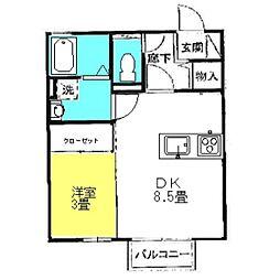 サングリエB[2階]の間取り