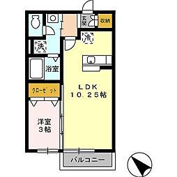 香川県観音寺市昭和町2丁目の賃貸アパートの間取り