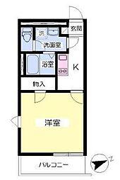 FORTUNA片田町[304号室]の間取り