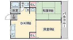シティハイム本山[202号室]の間取り