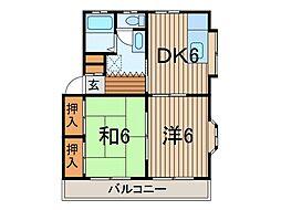 コーポ駒II[2階]の間取り