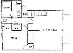 イーハトーヴKN[1階]の間取り