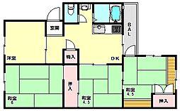 兵庫県神戸市西区伊川谷町別府の賃貸マンションの間取り
