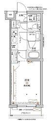 東急東横線 都立大学駅 徒歩8分の賃貸マンション 1階1Kの間取り