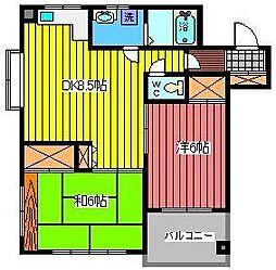 埼玉県さいたま市南区根岸4丁目の賃貸マンションの間取り