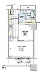 JR山手線 大塚駅 徒歩9分の賃貸マンション 3階1LDKの間取り