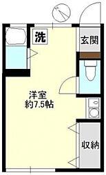 東京都文京区向丘1丁目の賃貸アパートの間取り