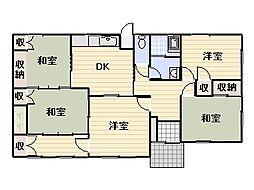 [一戸建] 福岡県宗像市自由ヶ丘7丁目 の賃貸【/】の間取り