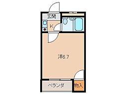 ラ・フォーレ黒田[4階]の間取り
