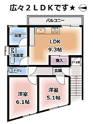 桃山町養斉15-5[201号室]の間取り