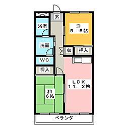 サクセションKT[2階]の間取り