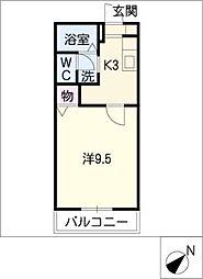シャトレーオカダ C棟[2階]の間取り