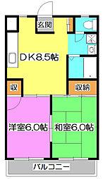 JUN東村山 B棟[2階]の間取り