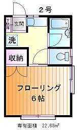 ハイツ鈴木[1階]の間取り