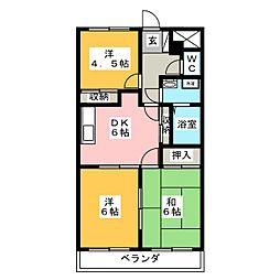 EVE下中野[2階]の間取り
