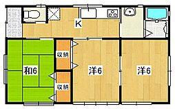 [一戸建] 茨城県日立市東滑川町4丁目 の賃貸【/】の間取り