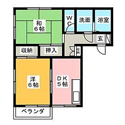 メゾン原沢[1階]の間取り