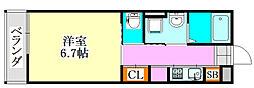 千葉県船橋市二宮2丁目の賃貸アパートの間取り