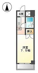 パール徳川[5階]の間取り