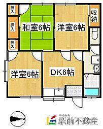アベニュー藤田[2階]の間取り