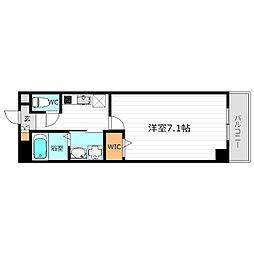 Osaka Metro谷町線 都島駅 徒歩2分の賃貸マンション 6階1Kの間取り