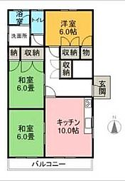 STEP・1・HINO[131号室]の間取り