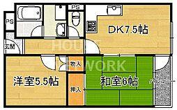 京福修学院マンション[405号室号室]の間取り