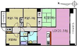 ニューメゾン古江[2階]の間取り